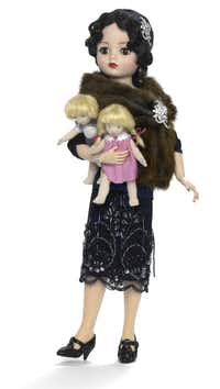 The commemorative 1923 Cissy doll stands 21 inches tall and honors Madame Beatrice Alexander ($1,499.95).