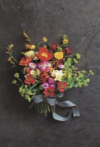 The Flower Recipe Book includes ideas for everything from simple, single-blossom arrangements to dramatic bouquets.
