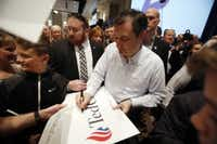 Ted Cruz greeted supporters in Idaho after speaking at a rally on the campus of Boise State University on Saturday. (Joe Jaszewski/Idaho Statesman)
