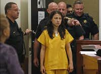 Sofya Tsygankova, the estranged wife of renowned pianist Vadym Kholodenko, entered a plea of not guilty at her arraignment on March 23 on two capital murder charges accusing her of killing the couple's daughters. (Paul Moseley/Fort Worth Star-Telegram)