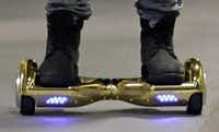 The man was riding a hoverboard, a kind of self-balancing scooter. (AP file photo)