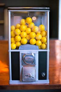 A hint of nostalgia is the vintage-look ball dispenser.(Kristen Loken -  Kristen Loken )