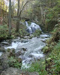 A guided nature hike  near the Omni Homestead Resort takes visitors to the scenic waterfall known as Cascades Gorge.(Robin Soslow - Robin Soslow)