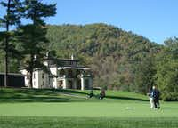 Visitors can golf  amid mountain beauty at two courses at the historic Omni Homestead Resort in Hot Springs.(Robin Soslow - Robin Soslow)