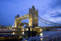 The 19th-century  Tower Bridge, viewed from the south bank of the Thames River, helped define the London skyline.(London and Partners/Visit Britain - London and Partners)