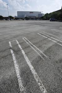 A Valley View Center parking lot stood wide open last summer  as its striping burned away.