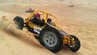 Sun Buggy offers off-road thrills in three-quarter-scale desert race cars in the Mojave Desert.( Sun Buggy Fun Rentals )