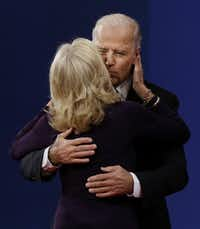 Vice President Joe Biden got a kiss from his wife, Jill, after the only vice presidential debate of the campaign season.