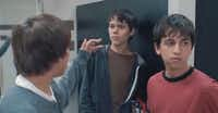 Tyler (far right) acts in a scene with Ellar Coltrane (middle) in the recently released film, Boyhood.(Video still courtesy of IFC Films)