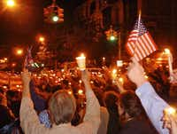 A candlelight vigil in Brooklyn's Park Slope neighborhood at 7th and 1st on Sept. 14, 2001.