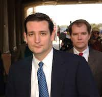 In 2003, Ted Cruz (left) and Don Willett were attorneys in the Texas attorney general's office. (AP/Harry Cabluck)