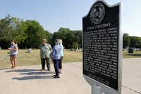 """There are a lot of people who worked hard to make Wylie what it is today,"" Mayor Eric Hogue said. ""That's where we go back to the cemetery. That's in honor of all those people who are buried out there and who made Wylie what it is today."""