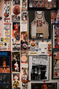 Basketball photographs, autographs, awards, jerseys and magazines are displayed on the walls of Kaser's home.Rose Baca - neighborsgo staff photographer