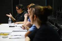 Director Ren Moreno instructs actors while they practice scenes from Good People at WaterTower Theatre.Photos by Rose Baca  - neighborsgo staff photographer