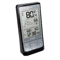 The Weather@Home Bluetooth-Enabled Weather Station relays weather conditions to your smartphone or tablet via Bluetooth.Oregon Scientific