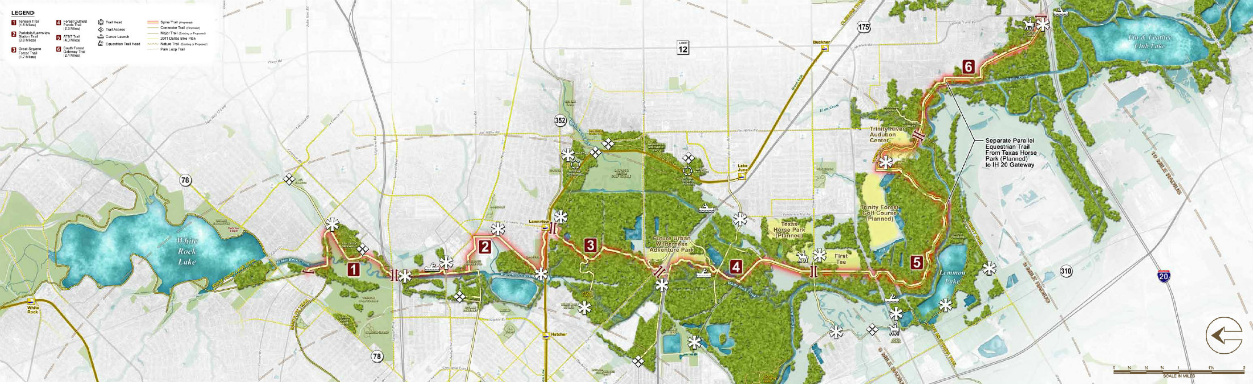 In the works, when someone can raise the money, a 15.5-mile trail ...