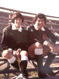 Shelly Whitlock (left) and former professional referee Manuel Ortiz participated in a 1977 North American Soccer League tryout.( Photo submitted by SHELLY WHITLOCK  )