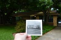 A photograph taken in 1963, depicts Gayla Russell's home before vegetation. Russell's backyard was recently named a Certified Wildlife Habitat by the National Wildlife Federation. It has native plants, natural sources of food, clean water and places to raise young for local wildlife.