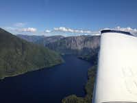 Wolfgang Schroen and Johannes Burges flew over Ketchican, Alaska, this fall.(Photos submitted by WOLFGANG SCHROEN)