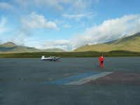 One of Wolfgang Schroen's favorite moments of the trip was Attu, Alaska, where Johannes Burges prayed and meditated before flying over the Pacific.(Photos submitted by WOLFGANG SCHROEN)