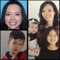 Christine Thi Woo and her three children who were last seen Monday.