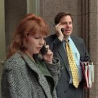 Jeff Judson, right, then president of the Texas Public Policy Foundation, in a 1997 AP photo by Harry Cabluck.