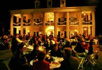 A holiday tradition in Vacherie, La., is an elegant dinner on the lawn of Oak Alley Plantation, followed by a bonfire.(Oak Alley Plantation - Oak Alley Plantation)