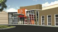 An artist rendering shows the area's first Salvation Army Youth Education Town in Arlington.  Each year the NFL donates $1 million to establish a Youth Education Town in the city where the Super Bowl was held.