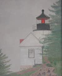 """Lighthouse in the Fog"" by Yvonne Hyatt(Colored Pencil Society of America)"