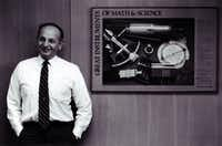 ORG XMIT: *S0420544096* Shot February 26, 1991 - A reluctant student who backed into engineering, George H. Heilmeier has become a legendary research scientist.  He is Texas Instruments Inc.'s chief technical officer.Juan Garcia - Staff Photog. - 44109