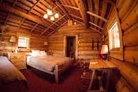 Lake O'Hara Lodge has lakeside cabins with cozy rooms.(Paul Zizka Photography)
