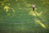 The Center has a labyrinth where people can walk from dawn to dusk.( Art of Living Cener )