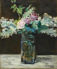 "Vase of White Lilacs and Roses by Manet will be part of the ""Bouquets: French Still-Life Painting From Chardin to Matisse"" exhibit opening in October at the Dallas Museum of Art.( Dallas Museum of Art, The Wendy and Emery Reves Collection )"