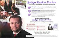A Valentine's Day flier from Cortez said he had issued orders that shut down a child-trafficking and prostitution ring.