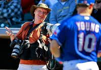 All-Star Ainsworth on assignment covering the Texas Rangers, 2011.