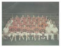 """The Texas team photo at the Big 33 game in 1965. From """"The Kids Got It Right: How the Texas All-Stars Kicked Down Racial Walls,"""" by Jim Dent."""