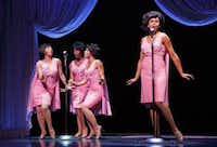Alysha Deslorieux, second from right, landed a role as one of the Shirelles in the original cast of Beautiful — The Carole King Musical, which is a nominee for best musical.( Joan Marcus )