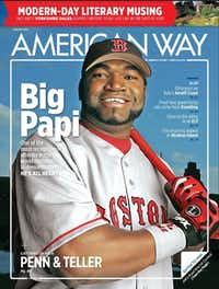The August edition features slugger David Ortiz.None - American Airlines
