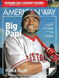 The August edition features slugger David Ortiz.(None - American Airlines)