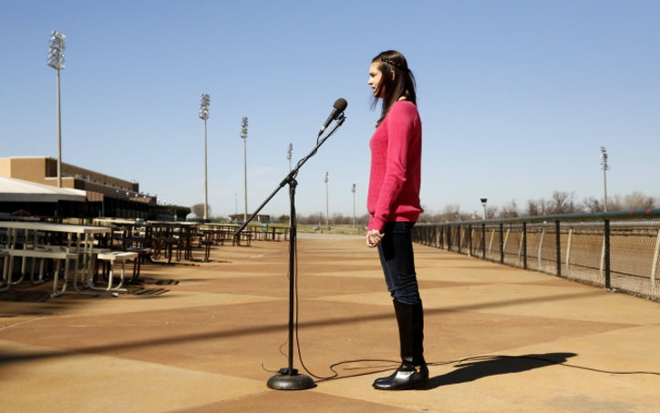 A shot to sing the national anthem | Dallas News | Photo