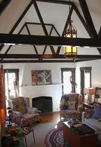 The stenciled beams in the 1926 house evoked instant love in Williams. She furnished the rooms with her unique blend of antiques, art, folk pieces and ethnic textiles.KELLEY CHINN  -  Special Contributor