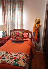The guest bedroom is bright with enthnic textiles.KELLEY CHINN  -  Special Contributor
