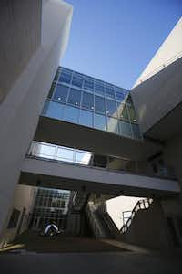 The Edith O'Donnell Arts and Technology Building at the University of Texas at Dallas, in Richardson.