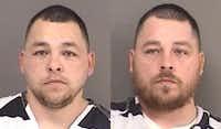 Dustin (left) and Christopher Garcia were arrested last week in Seagoville.