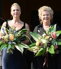 Katharina Wagner (left), great-granddaughter of composer Richard Wagner, and her half-sister Eva Wagner-Pasquier co-direct the Bayreuth music festival.