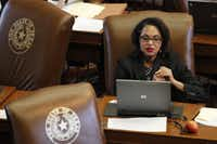 Texas state Rep. Barbara Mallory Caraway, D-Dallas, at the Texas House of Representatives at the State Capitol in Austin on Wednesday.