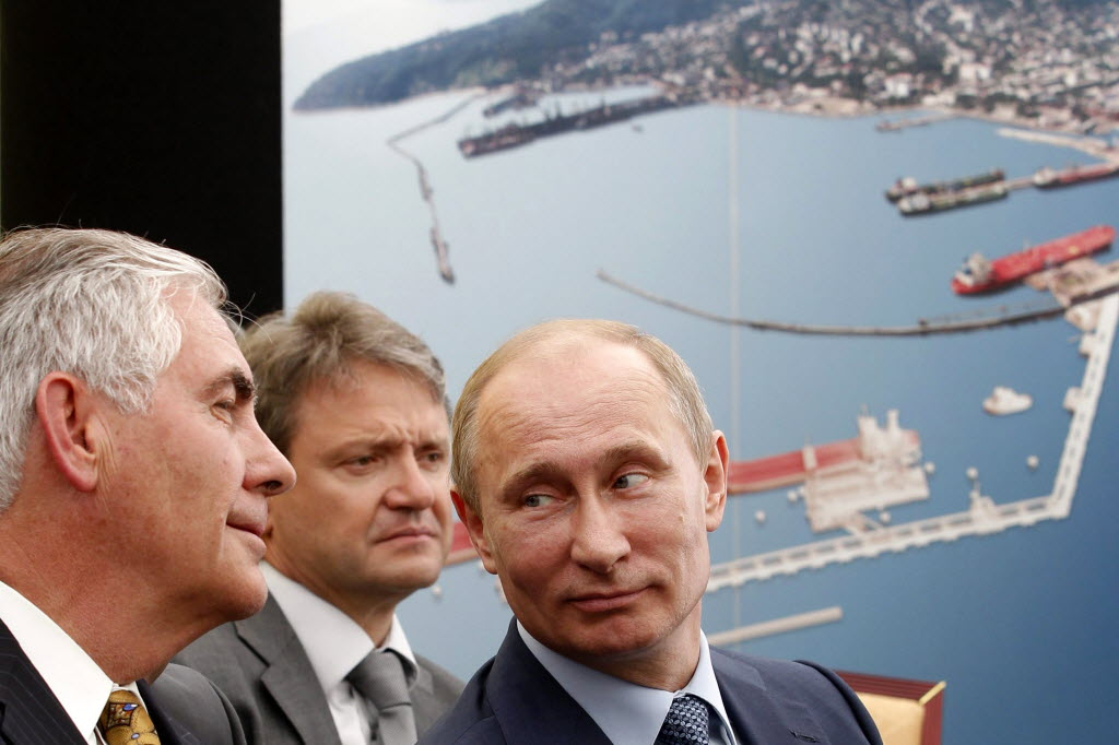 Image result for photo of rex tillerson and putin