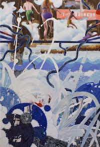 Ross von Rosenberg's The Blue Lagoon. The artist says he was inspired by the dramatic terrain of Iceland.unknown - Waas Gallery