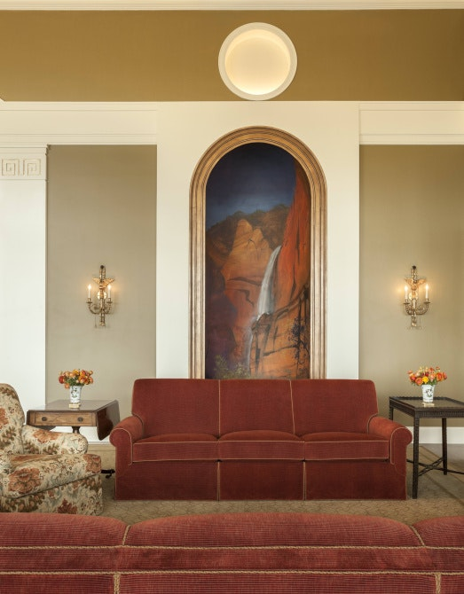 In The Living Room, Created For The Bushesu0027 Use, Large Scenes Of Zion  National Park And The Grand Canyon Were Painted By Former Fort Worth Artist  Adrian ...