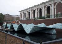 "Santiago Calatrava designed ""Wave,"" the perpetually moving sculpture that stands in front of SMU's Meadows Museum."